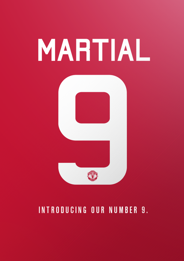 [Photo] Man Utd Confirm Anthony Martial Shirt Number