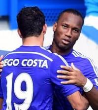 Didier Drogba + Diego Costa