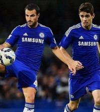 Cesc Fabregas and Oscar