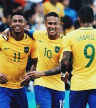 Gabriel Jesus, Neymar and Gabriel Barbosa