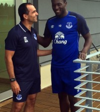 Roberto Martinez and Romelu Lukaku